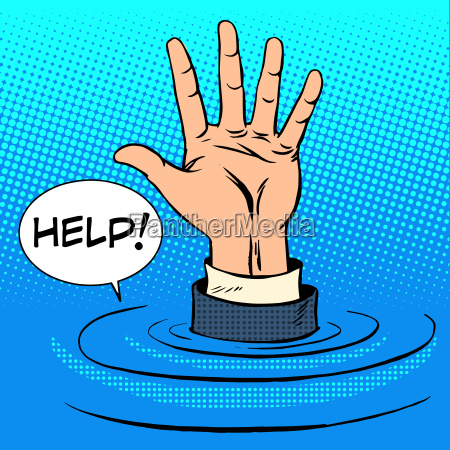 hand sinking asks for help business