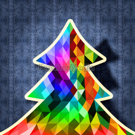 christmas tree design hipster fabric background