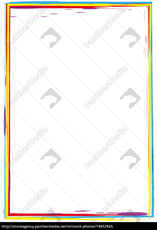 Rahmen Pinsel Strich rot - Lizenzfreies Bild - #14852945 ...