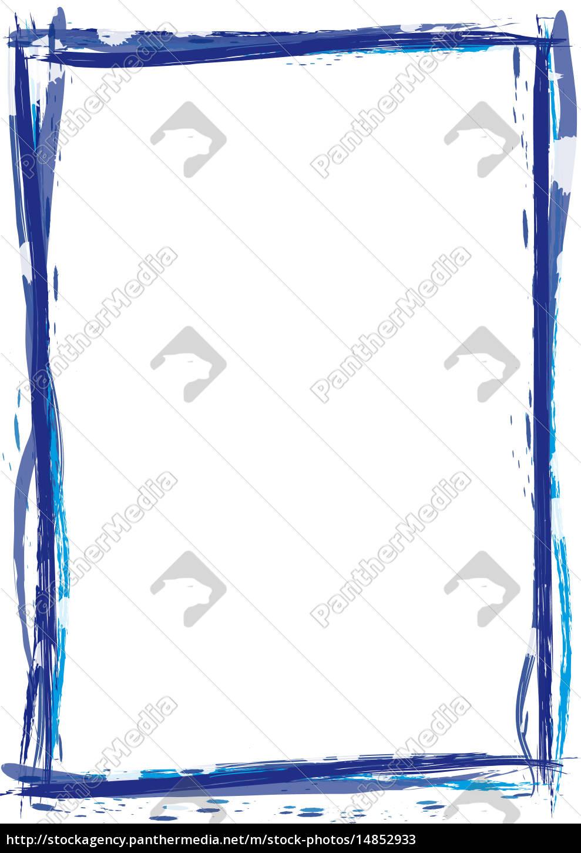 Rahmen Pinsel Strich - Lizenzfreies Bild - #14852933 - Bildagentur ...
