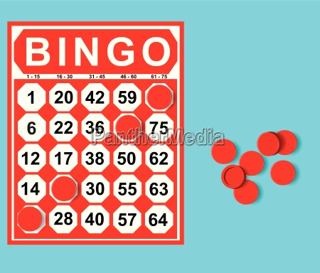 illustration der bingo karte