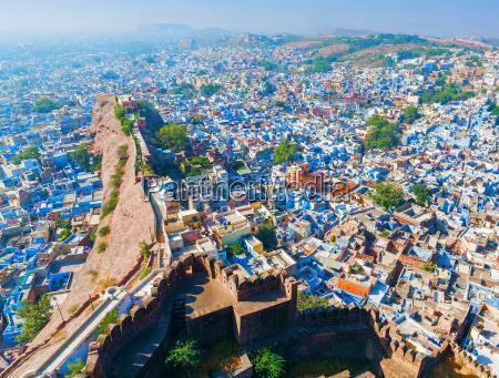 jodhpur blaue stadt rajasthan indien