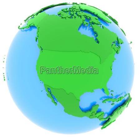 nordamerika auf der erde