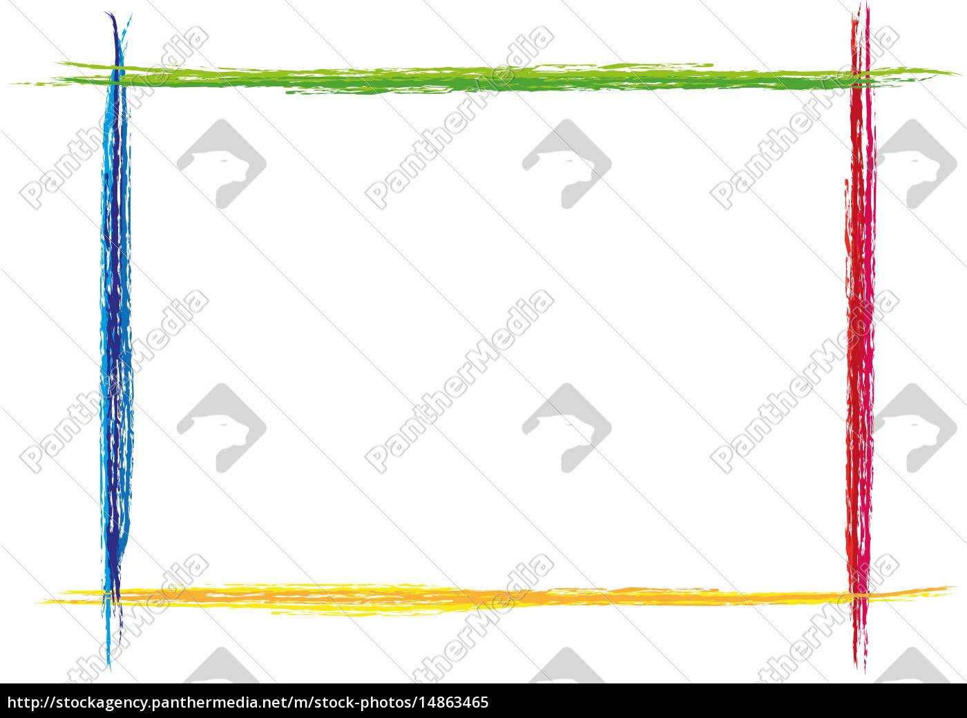 bunter Rahmen quer Strich gemalt - Lizenzfreies Bild - #14863465 ...