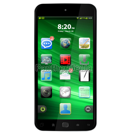 moderne digitale smartphone