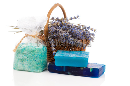 andemade soaps lavender flowers and bath