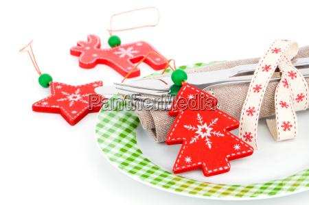 weihnachten gedeckten tisch