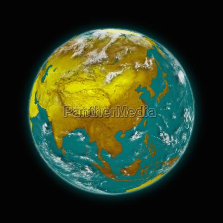 suedostasien auf dem planeten erde