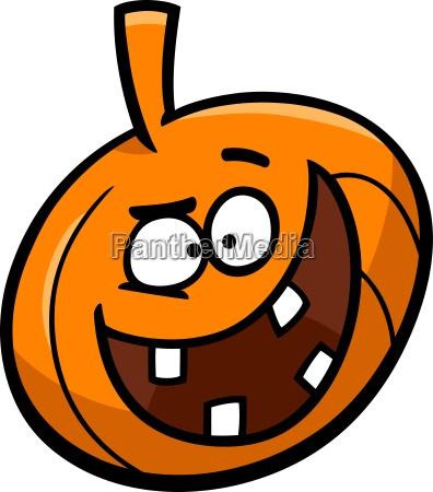 halloween pumpkin cartoon illustration