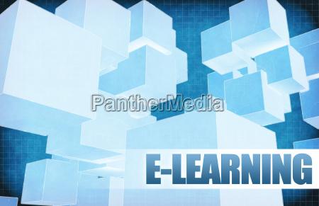 e learning on futuristic abstract