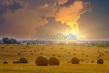 horizont sonnenuntergang landwirtschaft ackerbau wolke feld
