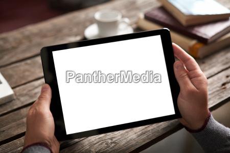 digitale tablet computer mit isolierten display