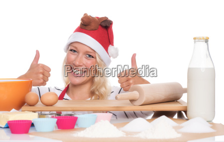 woman with santa hat wants to