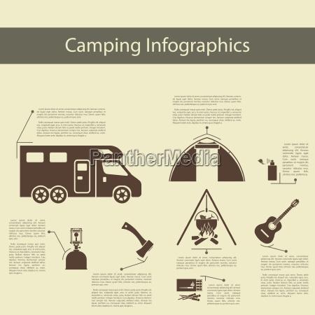 camping infografik