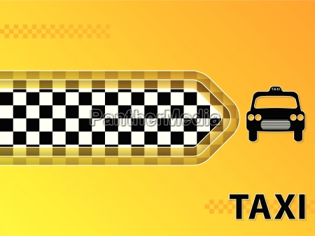 taxi advertising background with cab and