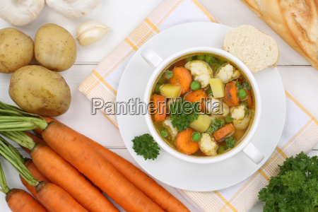 vegetable soup vegetable soup in soup