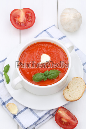 tomato soup tomato soup with baguette