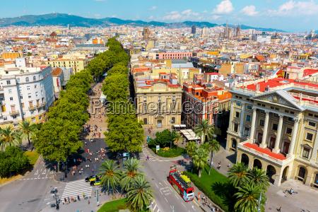 las ramblas in barcelona u200bu200bkatalonien spanien