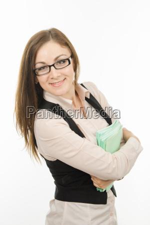 portrait eines jungen lehrers mit einem