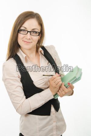 portrait eines gluecklichen lehrer mit einem