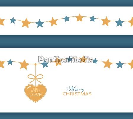 weihnachtsstern grenze und herz das geschenk