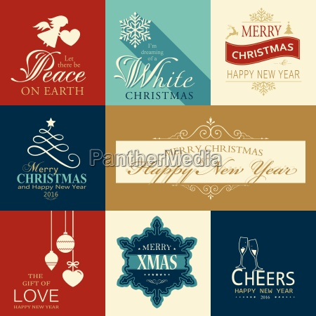 symbole satz von flachen weihnachten und
