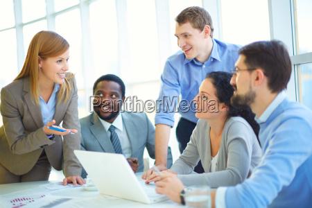 beratung mit mitarbeitern
