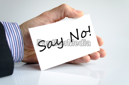 say no text concept