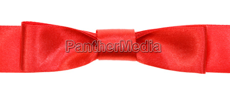 real red bow knot on wide