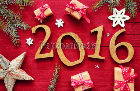 2016 new year and christmas design