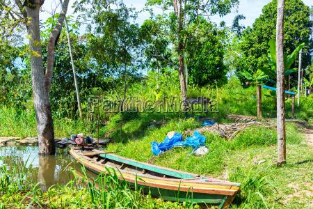canoe in the amazon