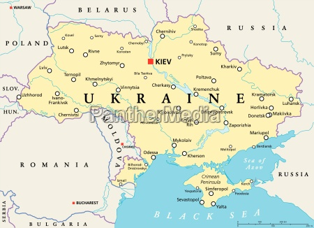ukraine politische karte