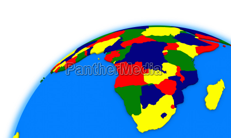 suedafrika auf der politischen landkarte des