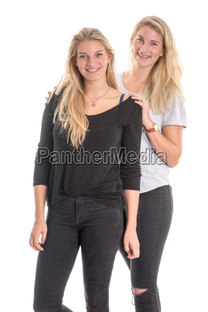 2 sisters with long blond hair