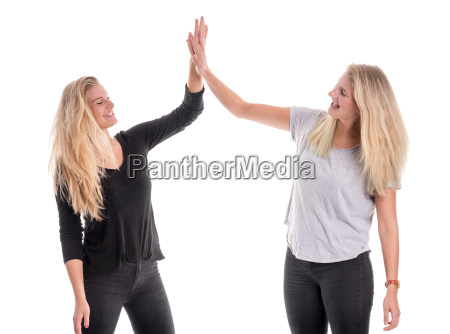 clap blond girlfriends girl girls siblings