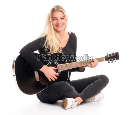 pretty blond girl sitting in tailors