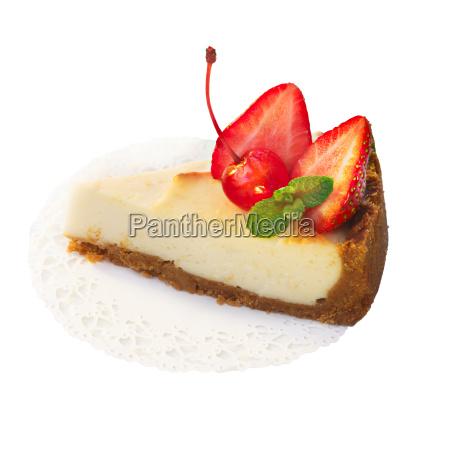 strawberry dessert isolated on white