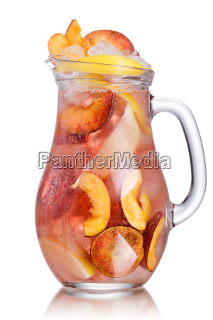 peach lemonade pitcher
