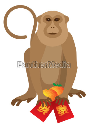 2016 chinese monkey with red packet
