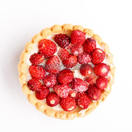 dessert with wild strawberries
