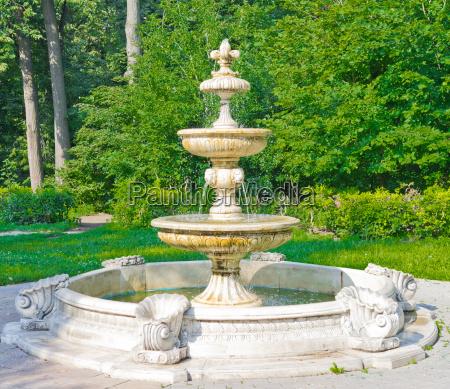 ancient fountain in kuzminki park moscow
