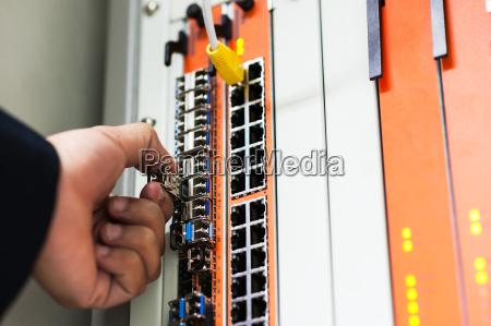 reparieren sie den netzwerkschalter im rechenraum