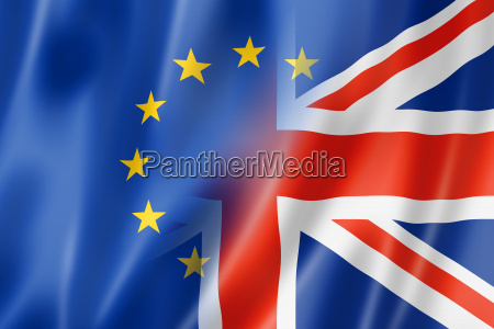 europas und grossbritannien flagge