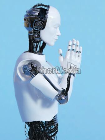 robot mann tun namaste nr 3