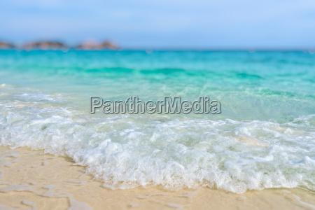 tilt shift unschaerfe strand im sommer