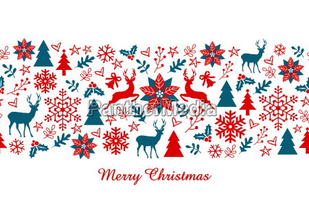 christmas banner seamless pattern
