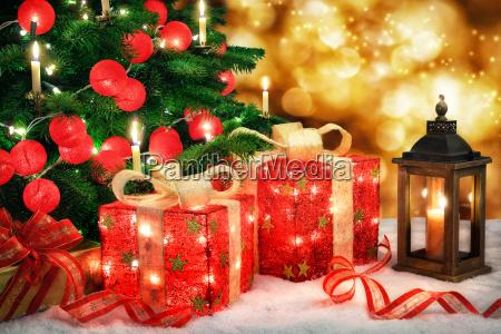 bright christmas scene