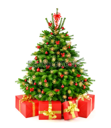 christmas tree with straw stars and