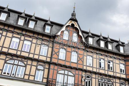 historische fachwerkfassade in wernigerode harz