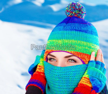 cute female in winter time